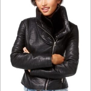 Wildflower Jackets & Blazers - Faux-Leather Moto Jacket B39 FINAL CLEARANCE