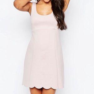 ASOS Dresses & Skirts - ASOS Scalloped pink dress