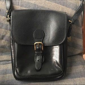 Brahmin crossbody black genuine leather.