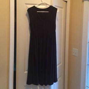 Black Maternity Sleeveless Dress