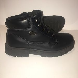 lugz Shoes - black leather grunge chunky combat boots