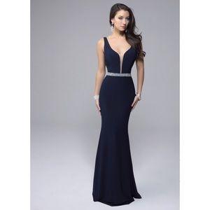 Sherri Hill Dresses & Skirts - Navy blue crystal gown