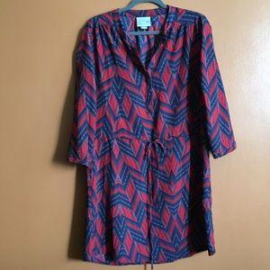 anthropologie • maeve chevron striped dress