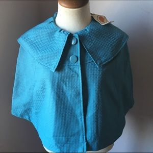 Anthropologie Jackets & Blazers - NWT Anthropologie Tulle Cropped Turquoise Coat S