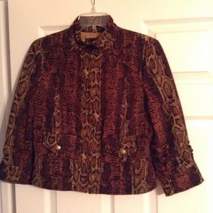 Peck & Peck Beautiful Snake Print Jacket