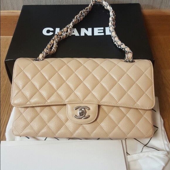 1383a1ba0dfcaf CHANEL Bags | Sold Medium Double Flap Bag Caviar Beige | Poshmark