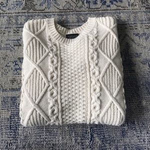 Topshop Sweaters - Cream knitted Top Shop sweater