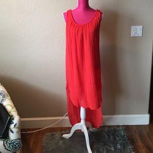 Michael Stars Dresses & Skirts - Michael Stars Racerback Orange High-Low Dress