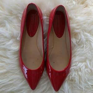 Banana Republic Shoes - Banana Republic orange red patent leather flat 8.5