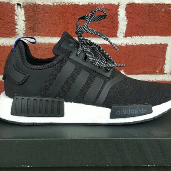 Adidas NMD R1 Black/Blue Men's Size 8