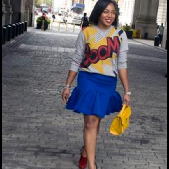 Dresses & Skirts - Blue trumpet skirt
