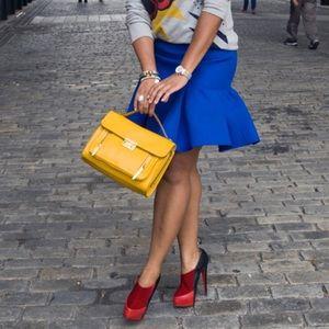 Skirts - Blue trumpet skirt