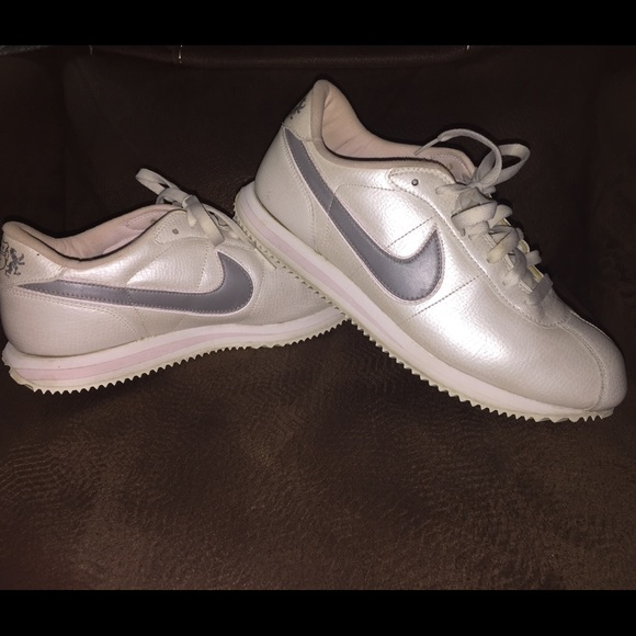 Nike Shoes Beautiful Shimmery Whitepinkgrey Cortez 95 Poshmark