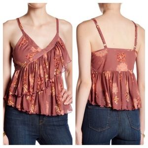 Free People Melbourne Ruffle Ribbed Tank, NWT