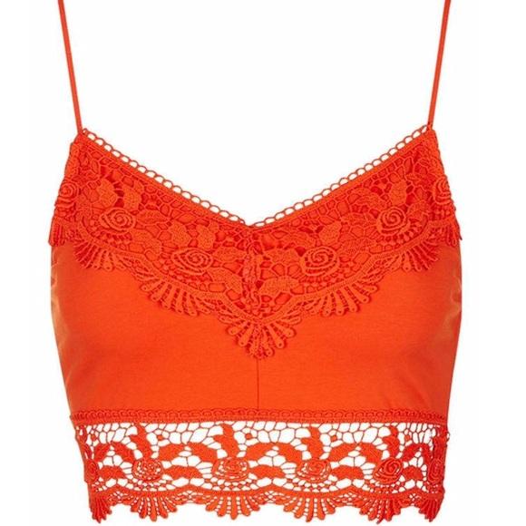 d7eb5c4ba1a Topshop Tops | 50 Off Crochet Bralette Top | Poshmark