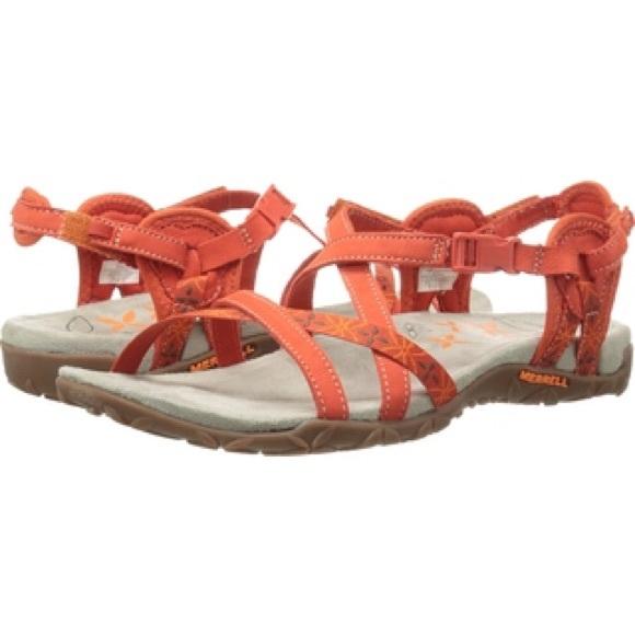 44356bf58d61 Merrell Hiking Terran Lattice Sandal Red Clay. M 584edd94f739bc000403f7ba