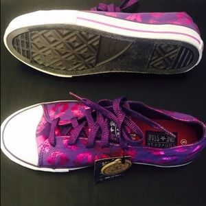 Cute Hot Pink and Purple Foil Converse Ones