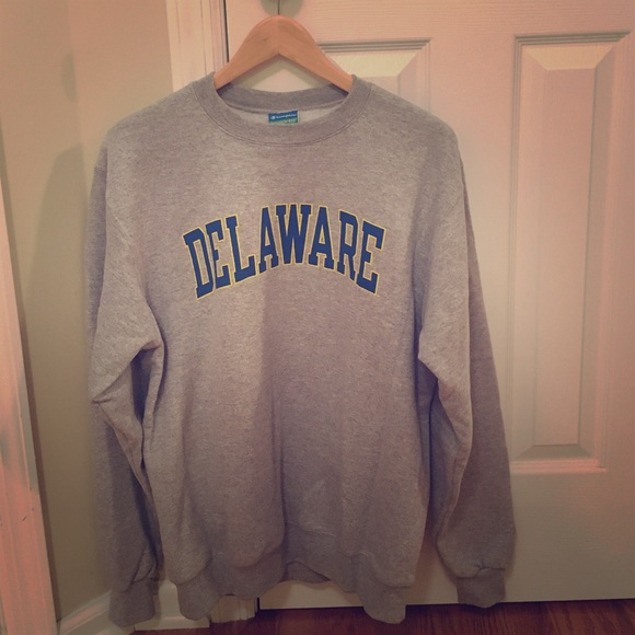 7bed2d17 Champion Tops | University Of Delaware Crewneck | Poshmark
