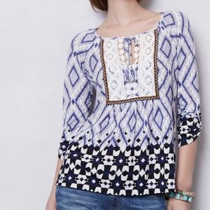 Anthropologie Vanessa Virginia Peasant Blouse Sz S