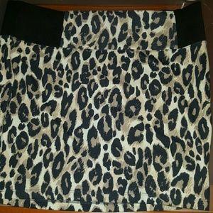 Charlotte Russe Dresses & Skirts - Leopard Print Skirt