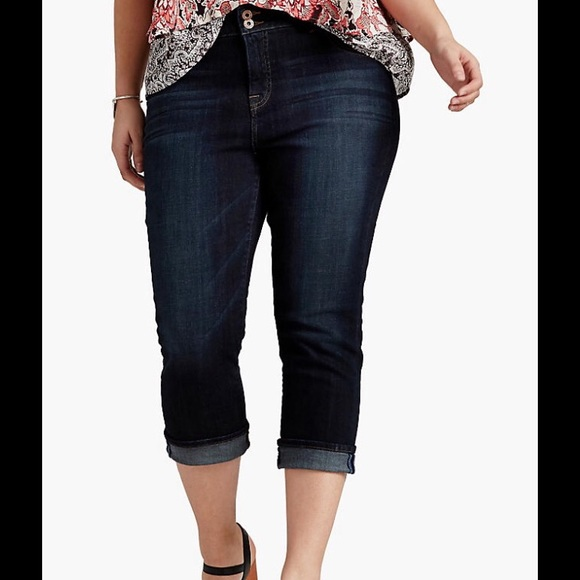 4e8df5070953d NWT Lucky Brand Emma Crop Jeans Plus Size 20W
