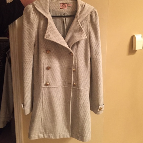 Juicy Couture Jackets & Blazers - Juicy Couture Grey Pea Coat