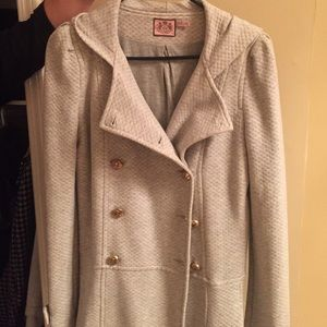 Juicy Couture Jackets & Coats - Juicy Couture Grey Pea Coat