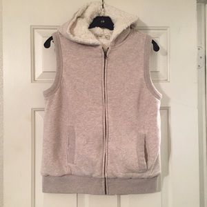 Old Navy Tops - Old Navy Faux Fur Sleeveless Hoodie.