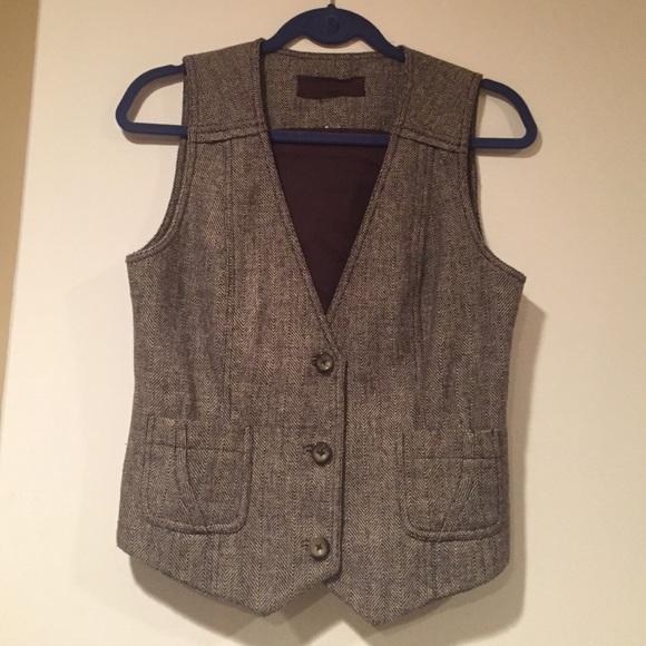 Paper Denim Cloth Jackets Coats Houndstooth Pattern Vest
