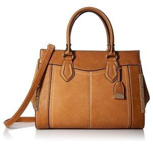 Aldo Crossbody Cognac Brown Leather Handbag Purse