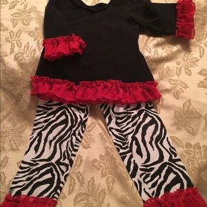 Other - Little girls boutique outfit, size 6. Worn once.