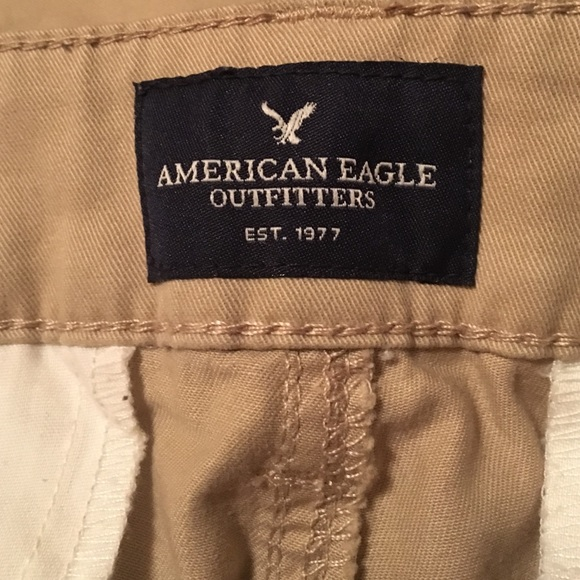 Simple Mens AE Flight Pant  Wheat Khaki  American Eagle Outfitters