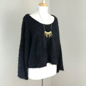 MINKPINK Black Mohair Sweater