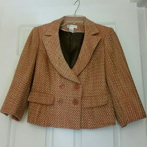 Striped blazer pink and gold