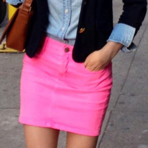70% off J. Crew Dresses & Skirts - JCrew Neon Pink Mini Skirt from ...