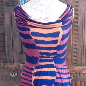 Anna Sui Dresses & Skirts - Anna Sui dress abstract geometric stripe print