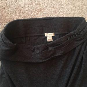 J Crew Charcoal Grey Maxi Skirt