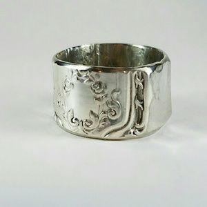 Used, Silver Plated Knife handle ring for sale