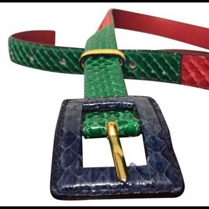 Celine Paris genuine snakeskin retro belt