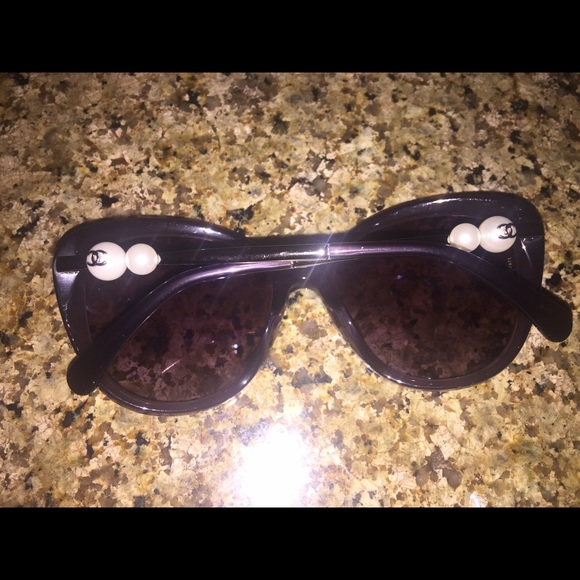 113491700dcf6 Chanel Cat Eye Sunglasses With Pearls