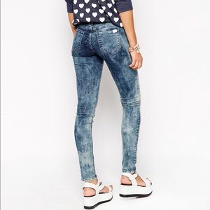 Wildfox acid wash jeans