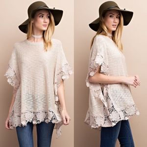 1 HR SALEANNIE knit poncho top - OATMEAL