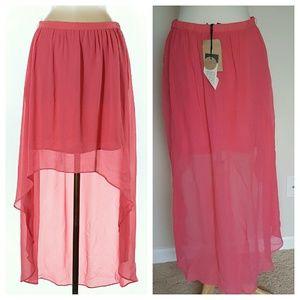 Sanctuary Dresses & Skirts - Sanctuary Hi-Low Pink Skirt - Medium