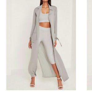 Missguided + Jackets & Blazers - Carli Bybel Grey Duster size 10