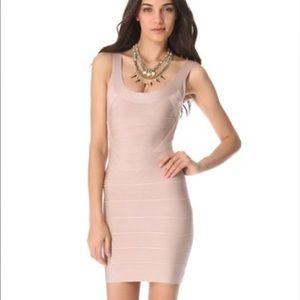 "Herve Leger Dresses & Skirts - NWT Herve Leger Zenia ""bare"" celeb bandage dress"
