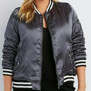 Jackets & Blazers - ⤵$18 Final CLEARANCE $-1X Grey Bomber Jacket!
