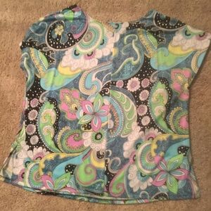 Antthony Original Tops - Psychedelic Pastel Blouse