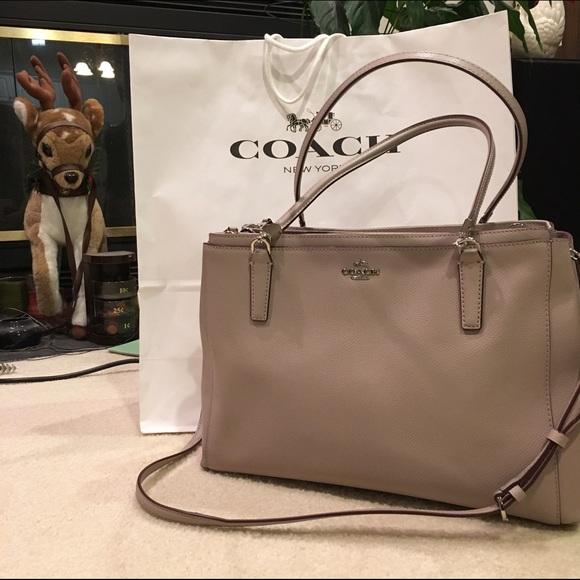 7c2939f1ed Coach Handbags - ✨NWOT Coach Christie Carryall Leather Grey Birch