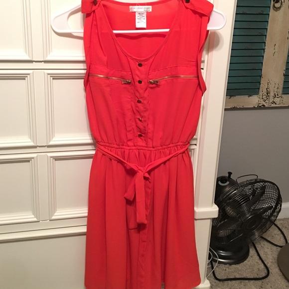 Orange Dress with Stockings