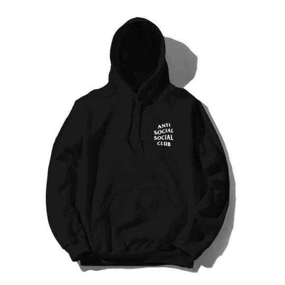 Gildan Sweaters Anti Social Social Club Black Hoodie